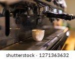 espresso machine working with...   Shutterstock . vector #1271363632