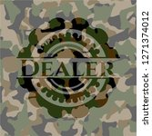 dealer on camouflage pattern | Shutterstock .eps vector #1271374012