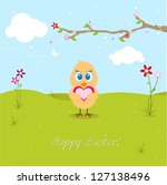 easter chicken in love