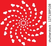 whirl of hearts greeting card... | Shutterstock .eps vector #1271389108