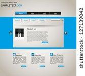 web site design template ... | Shutterstock .eps vector #127139042