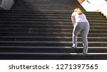 Hard To Climb Stairs For Obese...