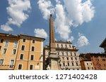 obelisk in pantheon square  ... | Shutterstock . vector #1271402428