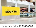 mock up large led blank yellow...   Shutterstock . vector #1271406502
