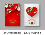 valentines day holiday posters. ... | Shutterstock .eps vector #1271408455