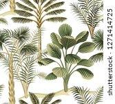 tropical vintage hawaiian palm... | Shutterstock .eps vector #1271414725