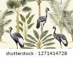tropical vintage botanical... | Shutterstock .eps vector #1271414728