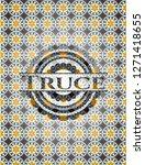 truce arabesque emblem. arabic... | Shutterstock .eps vector #1271418655