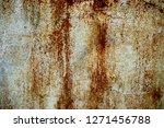 rust on painted metal           ... | Shutterstock . vector #1271456788