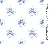 seamless pattern with purple...   Shutterstock .eps vector #1271457622