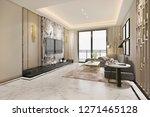 3d rendering luxury classic... | Shutterstock . vector #1271465128