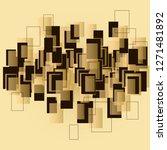 vector geometric beige and... | Shutterstock .eps vector #1271481892