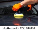 car polish wax worker hands... | Shutterstock . vector #1271482888