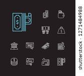 money payment icons set. mobile ...