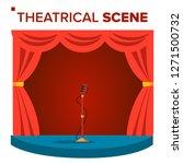 theatrical scene vector.... | Shutterstock .eps vector #1271500732