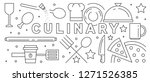line art design with culinary... | Shutterstock .eps vector #1271526385