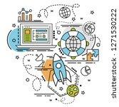 flat colorful design concept...   Shutterstock .eps vector #1271530222