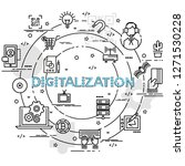 flat colorful design concept... | Shutterstock .eps vector #1271530228