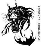 the black panther on a white... | Shutterstock .eps vector #12715315