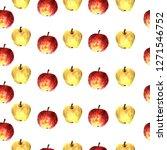 watercolor decorative apple... | Shutterstock . vector #1271546752