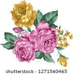 traditional flower bunch | Shutterstock .eps vector #1271560465