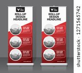 roll up banner design template  ... | Shutterstock .eps vector #1271565742