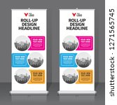 roll up banner design template  ... | Shutterstock .eps vector #1271565745