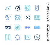 sound icon set and pause with...