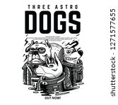 Three Astro Dogs Black And...