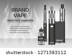 vapor electronic cigarette...   Shutterstock . vector #1271583112