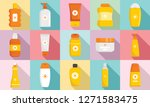 cosmetic sun protection icon... | Shutterstock . vector #1271583475