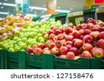 Bunch Of Red And Green Apples...