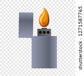 metal lighter icon. cartoon of...   Shutterstock . vector #1271587765