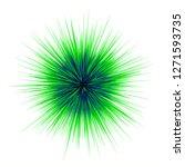 green blue spike ball isolated...   Shutterstock . vector #1271593735
