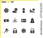 crypto finance icons set with... | Shutterstock .eps vector #1271622235