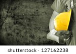 worker and grunge texture in... | Shutterstock . vector #127162238