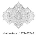 beautiful coloring book page... | Shutterstock .eps vector #1271627845