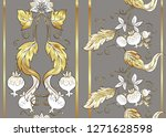 seamless pattern with stylized... | Shutterstock .eps vector #1271628598