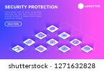 security and protection web... | Shutterstock .eps vector #1271632828