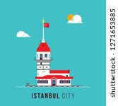 maiden tower  istanbul poster...   Shutterstock .eps vector #1271653885