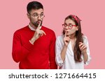 photo of surprised female and... | Shutterstock . vector #1271664415