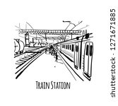 train station  sketch for your... | Shutterstock .eps vector #1271671885