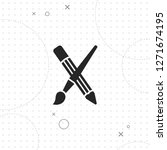 pencil brush icon  vector best... | Shutterstock .eps vector #1271674195