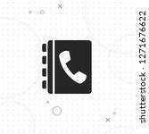 phone book icon  vector best...   Shutterstock .eps vector #1271676622