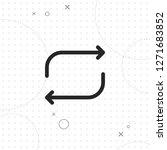 repeat icon  vector best line... | Shutterstock .eps vector #1271683852