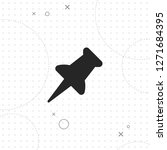 push pin vector best flat icon... | Shutterstock .eps vector #1271684395
