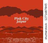 jaipur or indian city... | Shutterstock .eps vector #1271687845