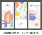 set of creative universal... | Shutterstock .eps vector #1271700178
