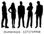 set of vector silhouettes of ... | Shutterstock .eps vector #1271719948