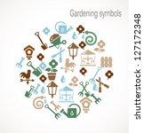 gardening symbols | Shutterstock .eps vector #127172348